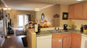 """The main living space at """"Mountain Grace"""" condo rental in Pigeon Forge"""